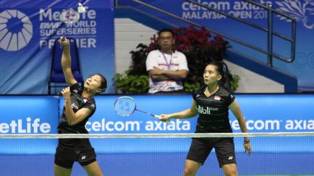 Dua wakil ganda putri Indonesia, Anggia Shitta Awanda/Ni Ketut Mahadewi Istarani di ajang Malaysia Super Series Premier 2017. - INDOSPORT