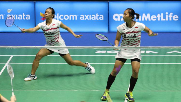 Della Destiara Haris/Rosyita Eka Putri Sari di babak pertama Malaysia Open SSP 2017. Copyright: Humas PBSI
