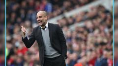 Indosport - Pelatih Man City, Pep Guardiola.