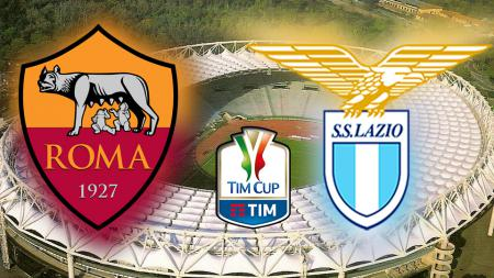 AS Roma vs Lazio. - INDOSPORT