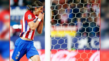 Bek kiri Atletico Madrid, Filipe Luis. - INDOSPORT