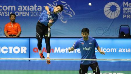 Mohammad Ahsan/Rian Agung Saputro di babak pertama Malaysia Open SSP 2017. - INDOSPORT