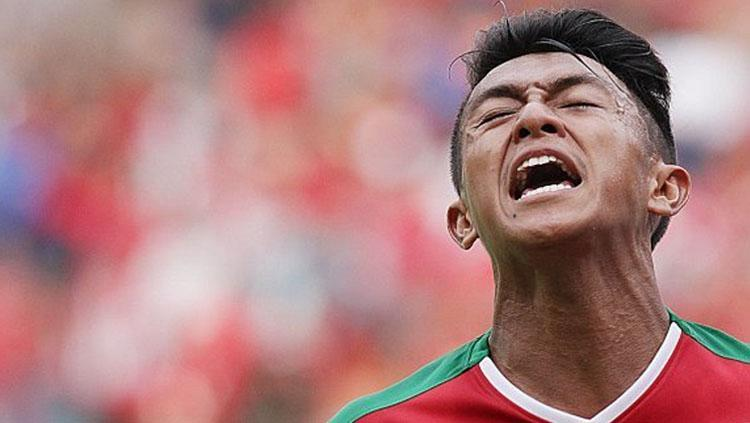 Febri Hariyadi dalam balutan seragam Timnas Indonesia. Copyright: banjarmasin.tribunnews.com