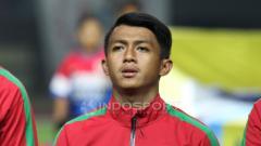 Indosport - Febri Hariyadi dalam balutan seragam Timnas Indonesia.