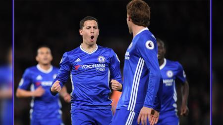 Pemain megabintang Chelsea, Eden Hazard. - INDOSPORT