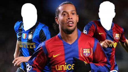 Ronaldinho, Adriano dan Deco. - INDOSPORT