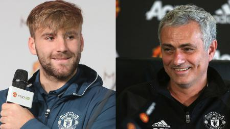 Luke Shaw (kiri) dan Jose Mourinho. - INDOSPORT