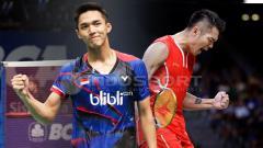Indosport - Jonatan Christie vs Lin Dan