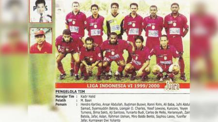 Skuat PSM Makassar ketika Juara tahun 2000. - INDOSPORT