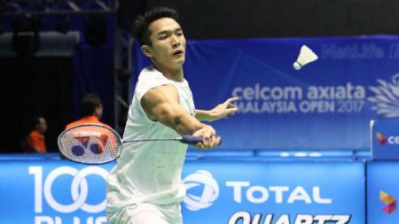 Tunggal putra Indonesia, Jonatan Christie gagal melaju ke semifinal. - INDOSPORT