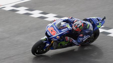 Maverick Vinales tampil perkasa di sesi latihan bebas kedua MotoGP Argentina. - INDOSPORT