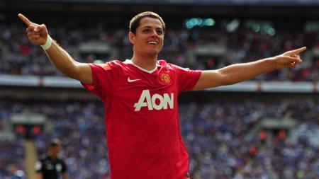 LA Galaxy dikabarkan sepakat mengontrak Javier 'Chicharito' Hernandez, eks Manchester United, selama 3 tahun untuk bermain di MLS. - INDOSPORT