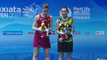 Tai Tzu Ying juara tunggal putri MalaysiaSSP 2017 dan Carolina Marin sebagai runner up. - INDOSPORT