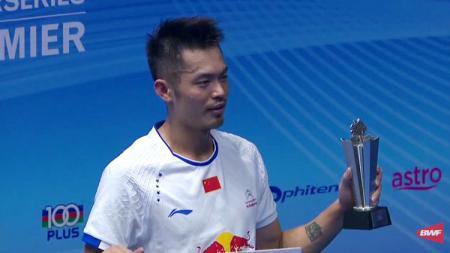 Lin Dan juara tunggal putra Malaysia Super Series Premier 2017. - INDOSPORT