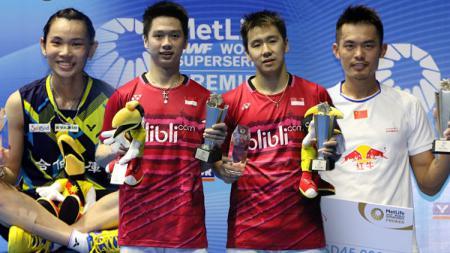 Marcus Fernaldi Gideon/Kevin Sanjaya Sukamuljo, Lin Dan dan Tai Tzu Ying juara Malaysia Open Super Series Premier 2017. - INDOSPORT