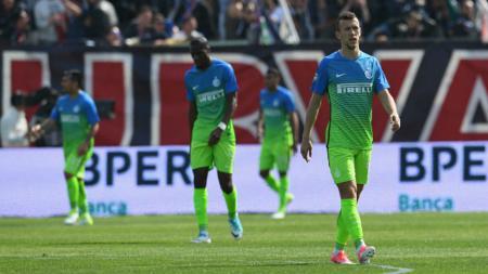Para penggawa Inter Milan setelah kalah atas Crotone. - INDOSPORT