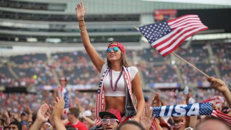 Suporter Amerika Serikat. - INDOSPORT