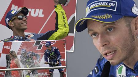 Pembalap Yamaha, Valentino Rossi. - INDOSPORT
