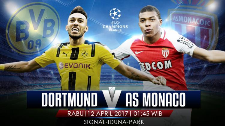 Prediki Borussia Dortmund vs AS Monaco. Copyright: Grafis: Eli Suhaeli/INDOSPORT/Getty Images