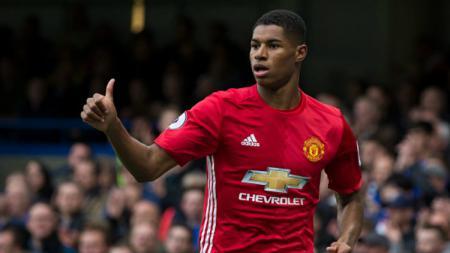 Bintang muda Manchester United, Marcus Rashford. - INDOSPORT