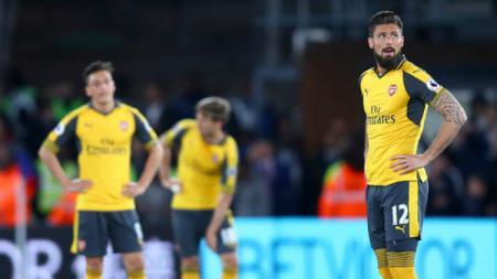 Arsenal harus takluk secara memilukan dengan skor 0-3 atas Crystal Palace. - INDOSPORT