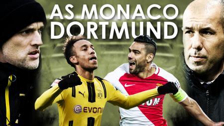 Leonardo Jardim, Radamel Falcao (AS Monaco) dan Pierre-Emerick Aubameyang, Thomas Tuchel (Borussia Dortmund.)