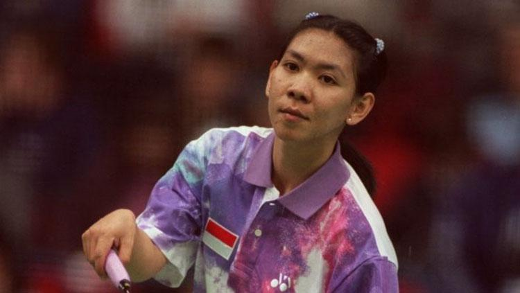 Legenda pebulutangkis Indonesia, Susy Susanti. Copyright: Tony Marshall/EMPICS via Getty Images