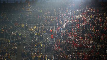 Suasana di Signal Iduna Park jelang laga antara Borussia Dortmund melawan AS Monaco. - INDOSPORT