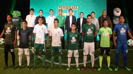 Suasana launching jersey Persebaya Surabaya. - INDOSPORT