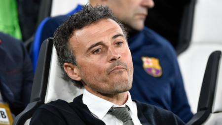 Luis Enrique saat masih melatih Barcelona. - INDOSPORT