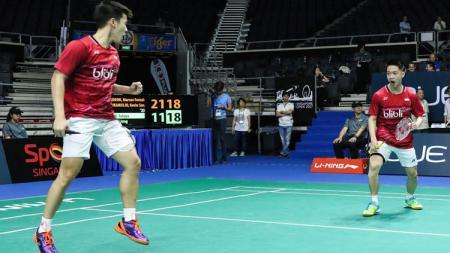 Ganda putra Indonesia, Kevin Sanjaya Sukamuljo/Marcus Fernaldi Gideon. - INDOSPORT