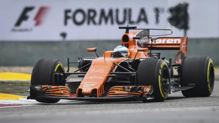 Pembalap tim McLaren-Honda, Fernando Alonso. - INDOSPORT
