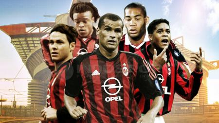 Pemain yang gagal di AC MIlan, Fernando Redondo, Edgar Davids, Rivaldo, Oguchi Onyewu dan Patrick Kluivert. - INDOSPORT