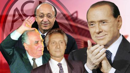 Silvio Berlusconi, Franco Sensi, Luciano Moggi dan Sergio Cragnotti. - INDOSPORT