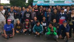 Indosport - Rombongan Viking Jakarta.