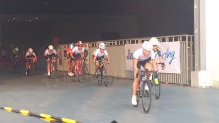 Situasi balapan sepeda di JIExpo Criterium. - INDOSPORT