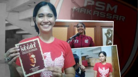 Media Officer PSM Makassar, Andi Widya Syadzwina. - INDOSPORT