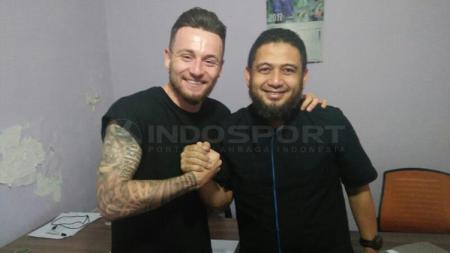 Marque player PSM Makassar, Marc Klok. - INDOSPORT
