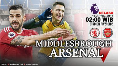 Prediksi Middlesbrough vs Arsenal. - INDOSPORT