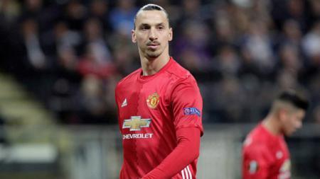 Striker andalan Manchester United, Zlatan Ibrahimovic. - INDOSPORT