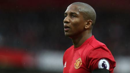Gelandang Manchester United, Ashley Young. - INDOSPORT