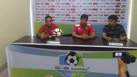 Konferensi pers Semen Padang jelang menghadapi Sriwijaya FC. - INDOSPORT