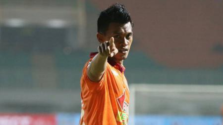 Lerby Eliandry mencetak gol untuk Borneo FC kala melawat ke kandang PS TNI. - INDOSPORT