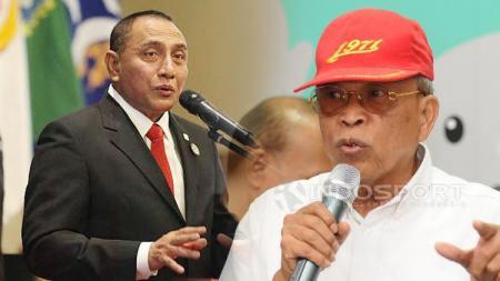 Ketua Umum PSSI, Edy Rahmayadi dan Ketua BOPI, Noor Aman. - INDOSPORT