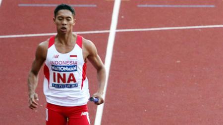 Atlet lari Indonesia, Muhammad Rozikin. - INDOSPORT