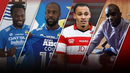 Michael Essien, Carlton Cole, Peter Odemwingie dan Mohamed Sissoko. - INDOSPORT