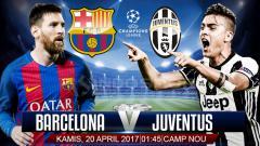 Indosport - Prediksi Barcelona vs Juventus.