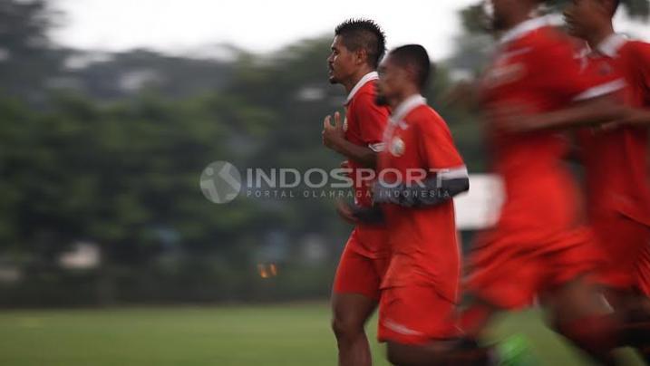 Latihan Ringan Persija Jakarta Jelang Lawan Barito Putera