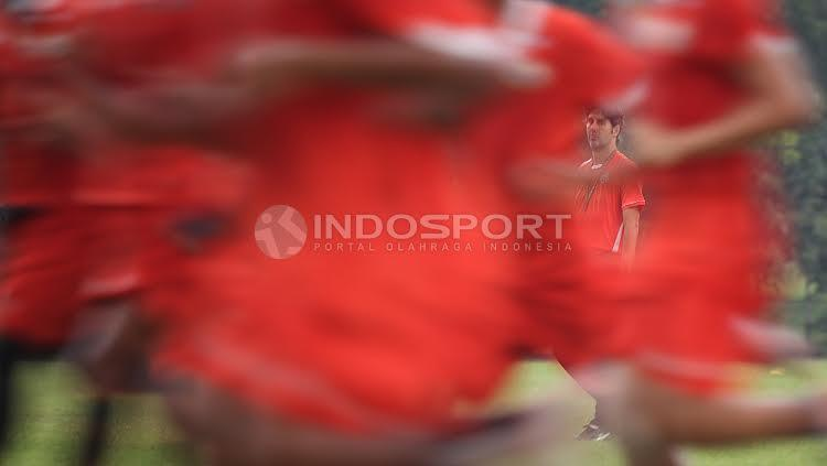 Macan Kemayoran hanya melakukan latihan ringan yang dipimpin pelatih Stefano Cugurra Teco.