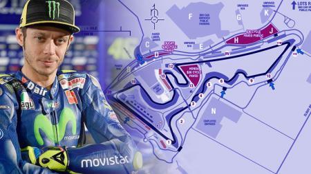 Pembalap Yamaha Movistar, Valentino Rossi. - INDOSPORT